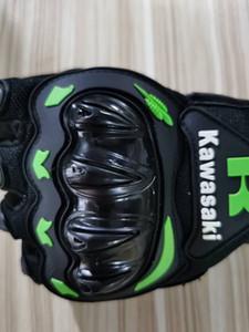 KTM Kawasaki Full Finger Спорт езда перчатка для велосипедных и мотоциклов Кожи PU Открытых гонок Байкер езды Мото Мотокросс Оранжевой Green06