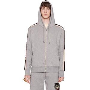 19FW Kapuzenjacke Sweatshirt Anzug Reißverschluss Kapuzenjacke Animail Stickerei Hosen Outwear Hosen Männer Frauen Street Sport Wear HFHLTZ006