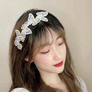 Butterfly Fashion Headband Female Women Korean Hair Accessories Hair Bands Hoop Bezel Retro French Hair Jewelry