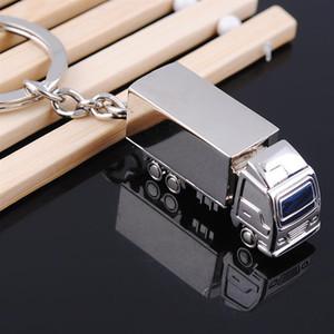 كول الإبداعية الأزياء شاحنة حاوية معدنية حلقة سلسلة المفاتيح كيرينغ مفتاح سلسلة خاتم فضة فوب حفل زفاف مضحك هدية XD23278