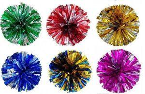 Nouveau pompons de fête de Noël Cheerleading Acclamation pompom métalliques Pom Pom produits Cheerleading Couleurs mélangées Gratuit SHIP