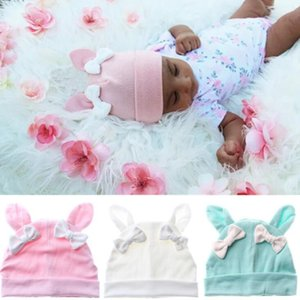 5 colors Infant solid color floral bow cap baby boys girls photography turban cap kids beanie hat hair accessories