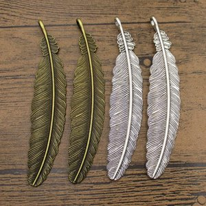 Selling Large Feather 5PCS Lot 105*20mm Wing Bookmark DIY Jewelry Accessories Gift Pendant 2 Colors Available-WY1115