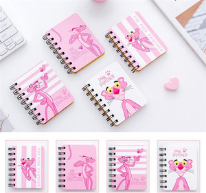Linda estudiante cuaderno papelería tirón bobina libro de oficina portátil de bolsillo libreta cuaderno de dibujos animados pequeño libro 10.5 * 8.1 cm