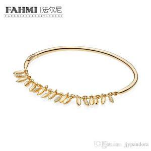 WPENNYI 100% 925 BRILLO plata esterlina 567715CZ FLOTANTE GRANOS El brazalete de lujo de la joyería exquisita regalo de las mujeres con Encanto original 2018