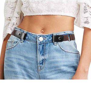 Non Boucle taille élastique Mode ceinture femmes No Hassle stretch Ceinture causales Hommes d'affaires Invisible Baudrier Party Gift TTA971-6