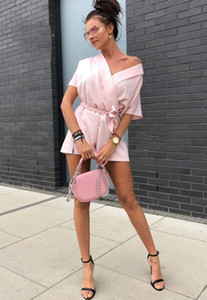 Women 2020 Fashion Off Shoulder Loose Playsuits Casual Romper Sexy Streetwear Shorts Rompers Bohemian Beach Jumpsuits