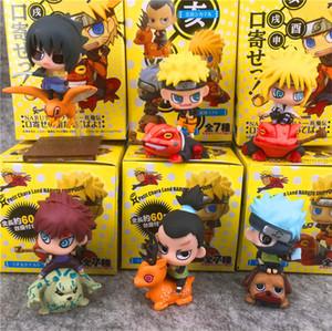 6pcs / lot Yeni Naruto aksiyon figürü oyuncak toplama Noel hediyesi bebek Naruto PVC Şekil Doll