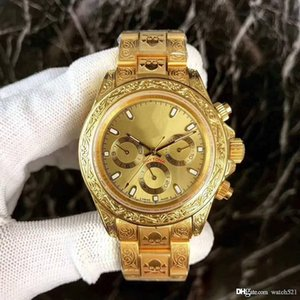Men 40mm with carved multi-functional automatic mechanical watch, luminous 18K gold postage free automatic mechanical watch