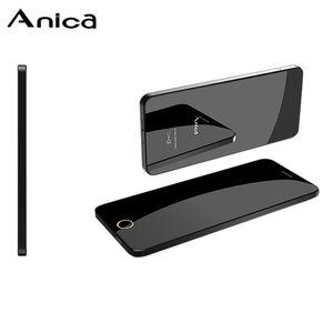 """Anica Telefon Super-Mini-Karte Ultradünnes Luxus Bluetooth Anrufe 1,63"""" staubdichte Shockproof Anti-Verlorene FM GSM Musik-Player Kleine Günstige Handys"""