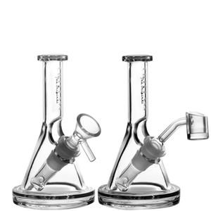 Mini Glasbecher 5mm Dicke Bong Dab Rig Wasserpfeifen Schüssel Quarz Banger Bongs Berauschende Rohrwachs Ölplattformen Kleine Bubbler