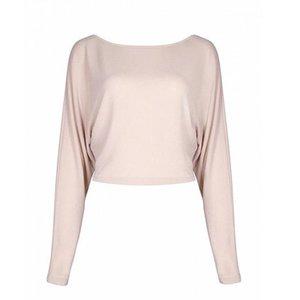 2019 мода Женская с плеча топы с длинным рукавом футболка Женщины Повседневная свободная футболка назад бандаж топ
