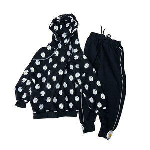 Kids tracksuit flower sportswear 2020 new fashion girls tracksuit sweat suit hoodie+pants 2pcs set kids designer clothes girls retail B1087