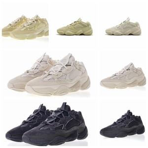 Adidas 2019 New Salt 500 Kanye West Tênis de Corrida Super Lua Amarelo Blush Deserto Rato 500 Homens Esporte designer de luxo Sapatilhas das Mulheres Sapatos Casuais
