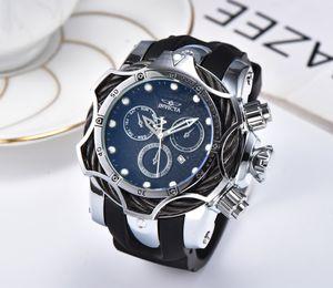 3D INVICTA роскошный золотой циферблат, мужские спортивные кварцевые часы, хронограф, съемные часы, мужские подарки