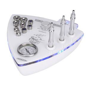 3adet Elmas Asaları ve 9pcs Dermabrazyon İpuçları ile Yüz Germe Kırışıklık Temizleme için Elmas Cilt Soyma Mikrodermabrazyon Yüz Makinası