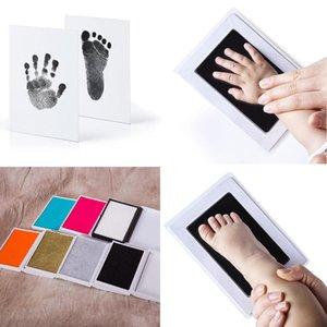 Baby Safe Druck Ink Pad Hand Footprint Makers Footprint Handprint Kit Aufbewahrungs Maker Erinnerungen Geschenk-Sets Geschenke DIY