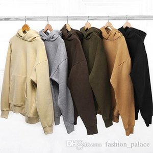 New Men's Oversized Hoodies Kanye West Hip Hop Plain Hoodies Design Skateboard Pullover Hooded Sweatshirt Winter Overcoat SHG1102
