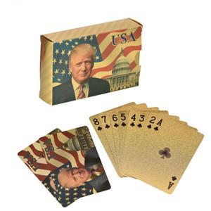 Poker Donald Trump président américain Cartes à jouer d'or / feuille d'argent Pokers avec boîte Livraison rapide