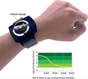 Inteligente Infravermelho Anti Ronco Pulseira Relógio de Pulso Parar Pulseira Solução Ressonar Dispositivo de Cessação