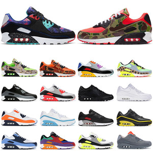 Cheap 90 men women running shoes Reverse Duck Camo triple black Dancefloor Green Supernova Volt USA mens trainers outdoor sports sneakers