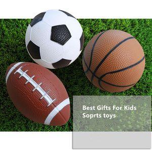 14,5 CM Durchmesser Aufblasbare Fußball Basketball American Football Spielzeug Vorschule Requisiten Kinder Sport Fähigkeit Training Aufblasbare Ball Spielzeug