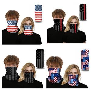Amerikan Bayrağı 3D baskı Sorunsuz bandanas Yüz Fonksiyonlu Kafa Eşarp Headwrap Motosiklet Bisiklet UV Toz Koruma Maks D52709 Maske