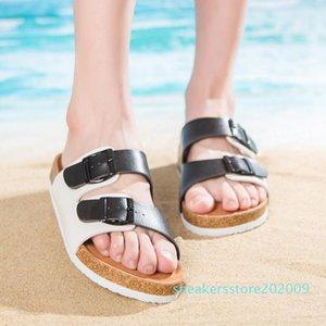 Men Women New Beach Cork Flip Flops Slipper Casual Summer Mixed Color Slip on Sandals Couple Flat Shoe Plus Size s09