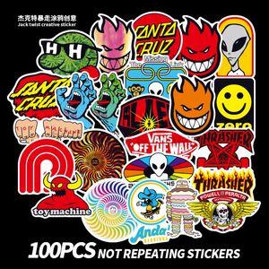 100 STÜCKE Skateboard Mode marke Logo Wasserdicht Aufkleber Für Gepäck Auto Guaitar Skateboard Telefon Laptop Fahrrad Aufkleber