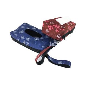 Kinder-Gewebe-Kasten-Neopren Travel Feuchttücher Box Sunflower Leopard-Druck-Schneeflocke Styles Papiertuch-Tasche für Wand-Durable 8 5SX E1 Hanging