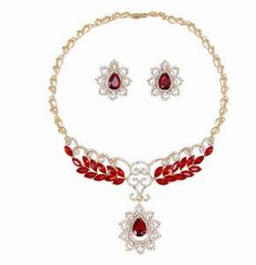 Qualitätsbraut-Kristallhalskette earings 25ree der freien Farbe der freien Farbe des Diamanten des freien Verschiffens freie