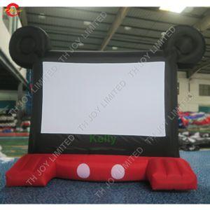 새로운 디자인 만화 마우스 머리 작은 풍선 화면 판매 실내 야외 싼 풍선 영화 화면 뒷마당 극장