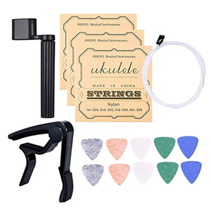 Ukulele String, Picks, String Peg Winder And Capo Ukulele Repair Tool Parts
