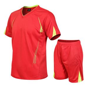 Trocknen schnell Breathable Mens-Sport-Anzüge Sommer Sweat Short Hülsen-beiläufige Tracksuits Designer männliche T-Shirts Hosen 2pcs Sportbekleidung