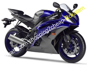 Für Yamaha-Verkleidungsteil YZF R6 08 09 10 11 12 13 14 15 16 YZF600 blau grau Motorradkörperkit (Spritzguss)