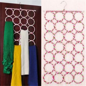 28 agujeros bufanda bufandas Percha Multi Display Hang lazos de cinta Organizar Círculo almacenamiento de ropa sostenedor de la suspensión 1PC wh0402