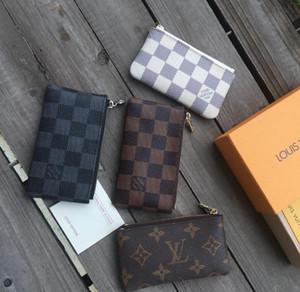 Louis Vuitton Vintage Leder-Frauen-Mappe Weibliche Minigeldbörsen Designer-Portemonnaie Luxus Männer Geldbeutel Reißverschluss Geldbörse 014