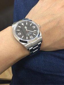 Luxe de haute qualité BP 214270 Montres-bracelets Explorateur 39mm en acier inoxydable Asie 2813 Mouvement automatique Montres Hommes Montres