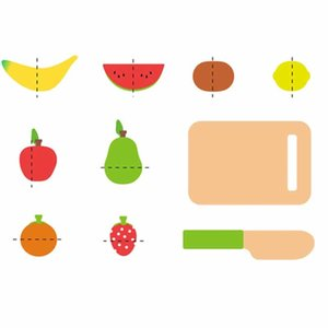 Educação Para A Aprendizagem Fruit Cut Music Boxed Montessori Educational Wooden Toys Drop Shipping Y200414