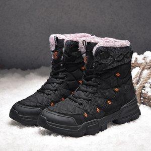 Ботинки 2021 Осенью и зимняя мужская Обувь на открытом воздухе Кожаные Специальные силы Боевые лодыжки Высокое качество