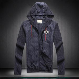 Men's Designer Jacket Luxury High Street Medusa Zipper Letter Print Hooded Jacket Windbreaker Men's Wear Women's High Quality Tag New M-3XL