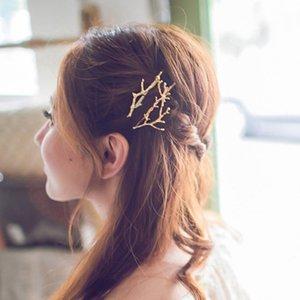 Mesdames Antler clips cheveux des femmes enfants fille alliage Barrettes fête de Noël Halloween Accessoires cheveux Or Argent