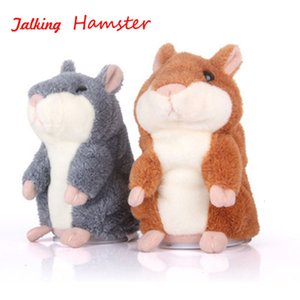 Mouse Talking Hamster Electronic Animal Pet Plush Toy Mimics Repeat What You Say After Words Sounds Children Birthday Gift Doll T191019