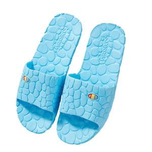 Barato verano piso Skid Prueba Inicio piso zapatillas de interior Familia plana Baño Bañera sandalia de los deslizadores de las mujeres