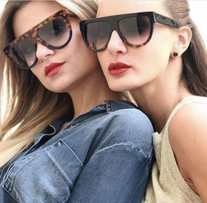Luxury 41026 Vintage Sunglasses Audrey Fashion Women Designer Big Frame Flap Top Oversized Top Sunglasses Leopard Pc Plank Frame Material