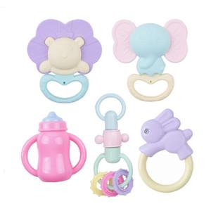 jouets interactifs cadeaux populaires nouveau-nés et merveilleux Rassurer matériau souple outil Classs hochet et jouets pour bébé Teether 6 mois