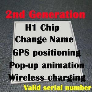 블루투스 이어폰 GPS 위치를 충전 유효한 일련 번호 최신 높은 공기 H1 칩 명칭 변경 헤드셋 2 세대 무선