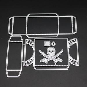 SCD1214 Boîte Scrapbook Metal Cutting Dies Pour Scrapbooking Pochoirs Album DIY Cartes Décoration Gaufrage Dossier Découpes Outils
