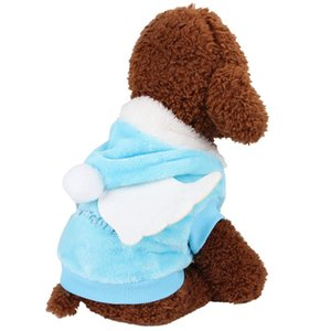 MMPet Warm Coat For Autumn And Winter Small Dogs Funny Warm Fashion Accessories Angel Cosplay Costume With Wings