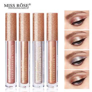 Miss Rose Mermaid Deslumbrar Diamante Sombra Líquida Glitter Sombra de Olho Matiz Maquiagem À Prova D 'Água Shimmer Shine Metallic Eye Cosmetic